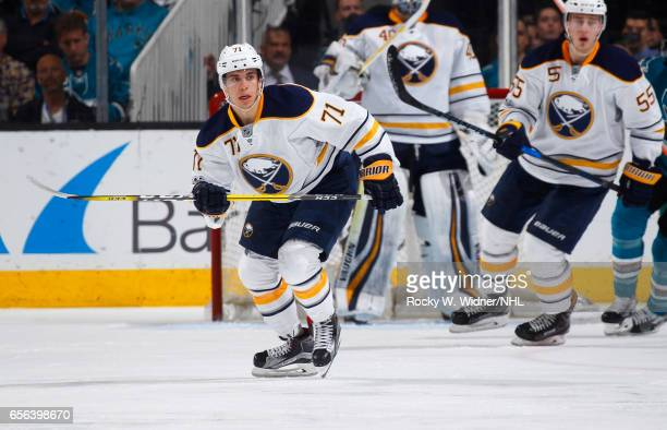 Evan Rodrigues of the Buffalo Sabres skates against the San Jose Sharks at SAP Center on March 14 2017 in San Jose California