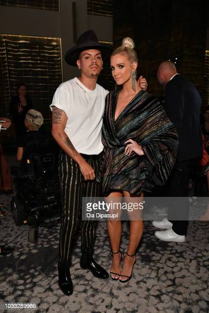 Evan Ross and Ashlee SImpson attend Daily Front Row's Fashion Media Awards on September 6 2018 in New York City
