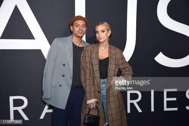 Evan Ross and Ashlee Simpson attend Lady Gaga Celebrates the Launch of Haus Laboratories at Barker Hangar on September 16, 2019 in Santa Monica,...