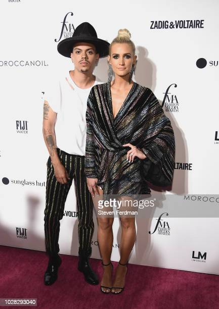 Evan Ross and Ashlee Simpson attend the Daily Front Row's Fashion Media Awards presented by ZadigVoltaire Sunglass Hut Moroccan Oil LIM Fiji on...