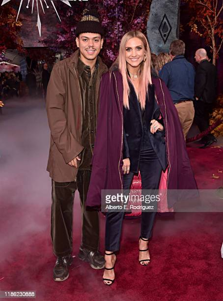 """Evan Ross and Ashlee Simpson attend the world premiere of Disney's """"Frozen 2"""" at Hollywood's Dolby Theatre on Thursday, November 7, 2019 in..."""