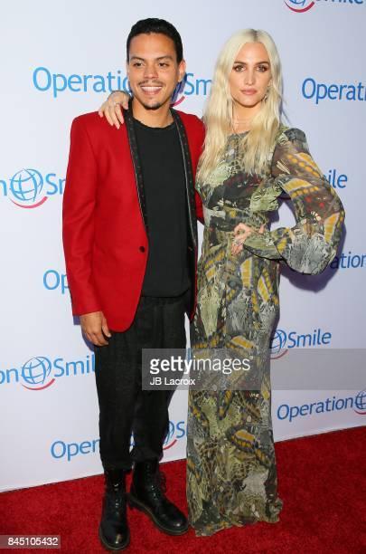 Evan Ross and Ashlee Simpson Ross attend Operation Smile's Annual Smile Gala on September 9, 2017 in Santa Monica, California.