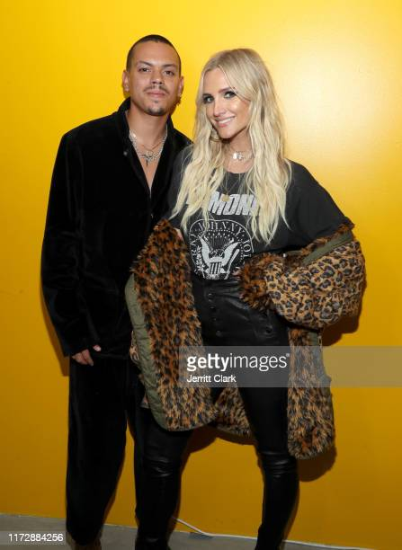 Evan Ross and Ashlee Simpson Ross attend Talent Resources Presents Airgraft's The Art Of Clean Vapor on September 06, 2019 in Los Angeles, California.