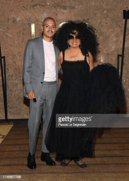 Evan Ross and Diana Ross attend the Christian Dior Couture S/S20 Cruise Collection on April 29, 2019 in Marrakech, Morocco.