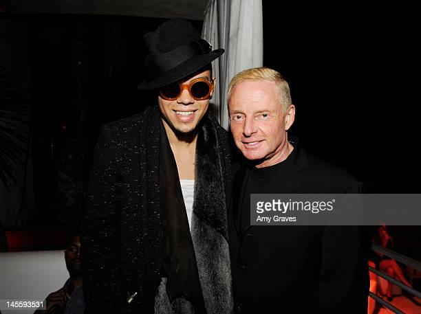 Evan Ross and Elliot Mintz attend the celebration of LA Socialite and Reality TV Personality Allison Melnick's Birthday hosted by elit By Stoli at...