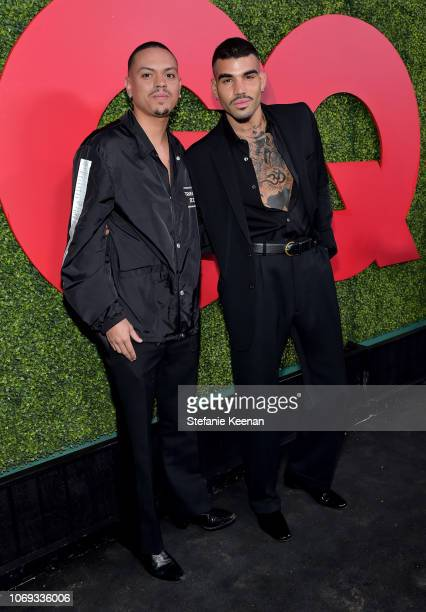 Evan Ross and Miles Brockman Richie attend the 2018 GQ Men of the Year Party at a private residence on December 6, 2018 in Beverly Hills, California.