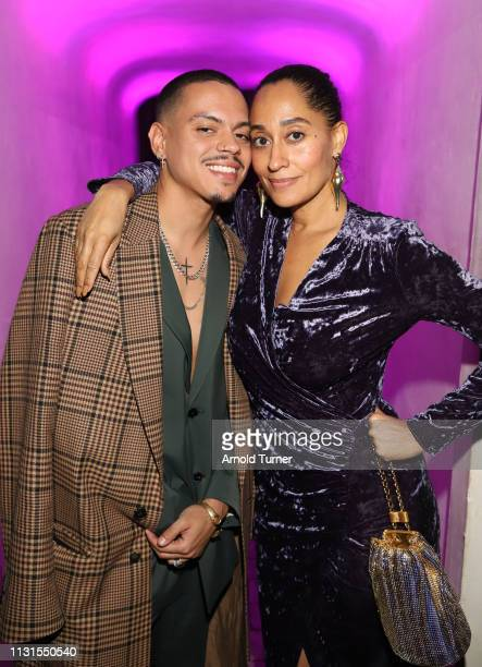 Evan Ross and Tracee Ellis Ross attend Common's 5th Annual Toast to the Arts at Ysabel on February 22 2019 in West Hollywood California
