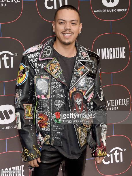 Evan Ross arrives at the Warner Music Group PreGrammy Celebration at Nomad Hotel Los Angeles on February 7 2019 in Los Angeles California