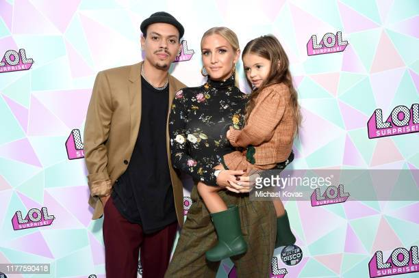 Evan Ross, Ashlee Simpson, and Jagger Snow Ross attend L.O.L. Surprise! Winter Disco Launch Party on September 27, 2019 in Los Angeles, California.