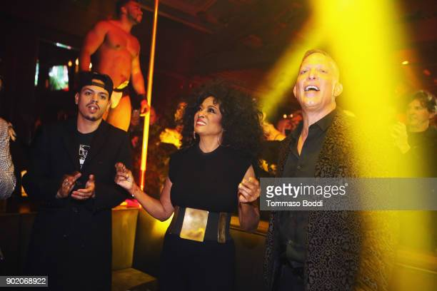 Evan Ross Diana Ross and Abbey Owner David Cooley Appear At The Abbey To Greet Fans And Promote Her New Remix Of 'Ain't No Mountain High Enough' at...