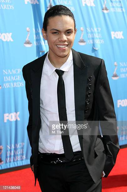 Evan Ross during 38th Annual NAACP Image Awards - Arrivals at Shrine Auditorium in Los Angeles, California, United States.