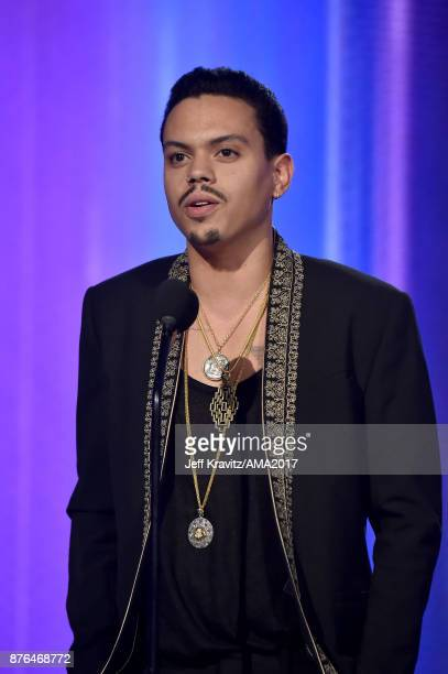 Evan Ross onstage during the 2017 American Music Awards at Microsoft Theater on November 19 2017 in Los Angeles California