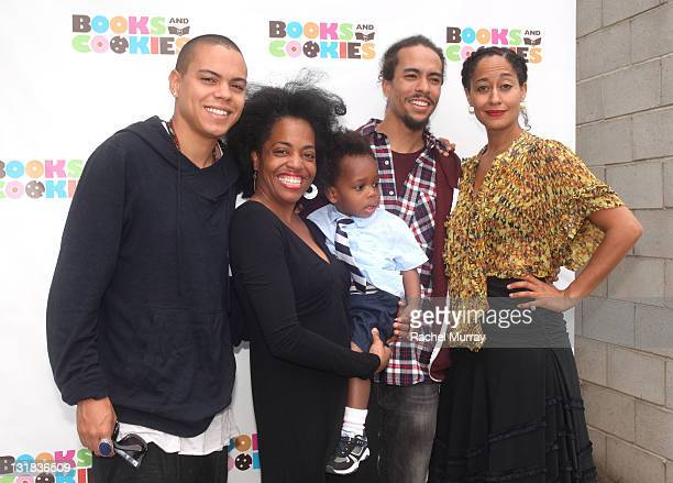 Evan Ross Rhonda Ross Kendrick Raif Ross Kendrick Ross Arne Naess and Tracee Ellis Ross attend the Grand Opening of Books Cookies the first...