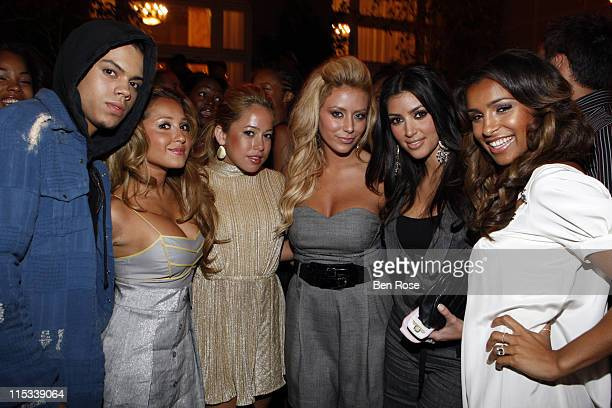 Evan Ross The Cheetah Girls Aubrey O'Day Kim Kardashian and Melody Thornton