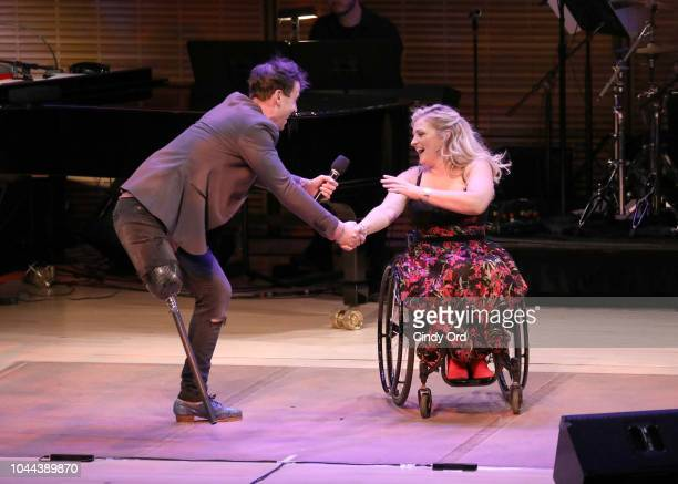 Evan Ruggiero and Ali Stroker perform onstage during Broadway's Best Comes Together To Salute Chita Rivera At Touch The Sky A Benefit To Build NY's...