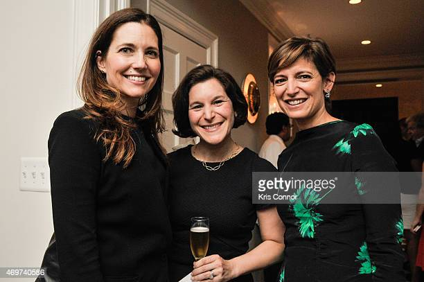 Evan Ryan Aimee Segal and Glamour Editor In Chief Cindi Leive attend a reception to honor Giovanna Gray Lockhart as the new Glamour Washington DC...
