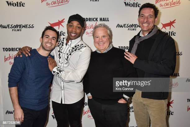 Evan Schwartz Todrick Hall Jim Stephens and Abraham Brown attend the 'Behind The Curtain Todrick Hall' screening at IFC Center on December 6 2017 in...