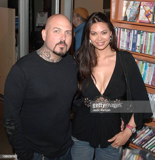 Evan Seinfeld and Tera Patrick during DVD Signing of the Sixth Season of HBO's OZ September 5 2006 at Tower Records Lincoln Center in New York City...