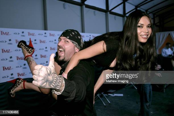 Evan Seinfeld and Tera Patrick during TMZ Celebrates Its One Year Anniversary Red Carpet and Inside at Republic in West Hollywood California United...