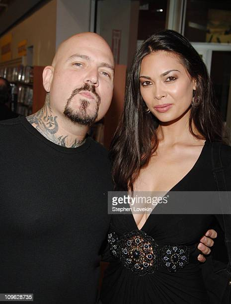 Evan Seinfeld and wife Tera Patrick during 'Oz' Season 6 DVD Signing at Tower Records at Tower Records Lincoln Center in New York City NY United...