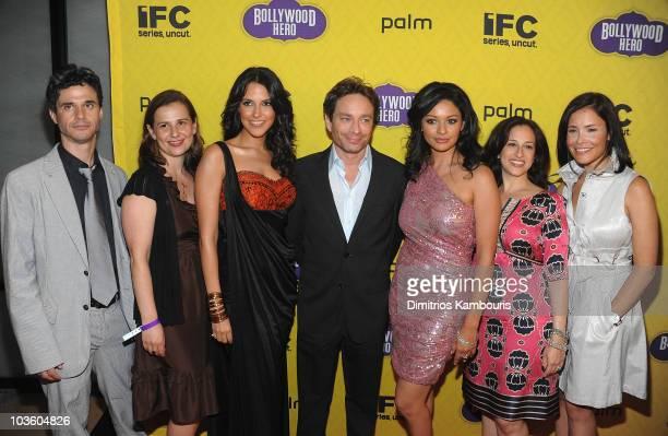 Evan Shapiro, President, IFC tv and Sundance Channel, Neha Dhupia, Chris Kattan, Pooja Kumar and IFC's Jennifer Caserta attend the premiere of...