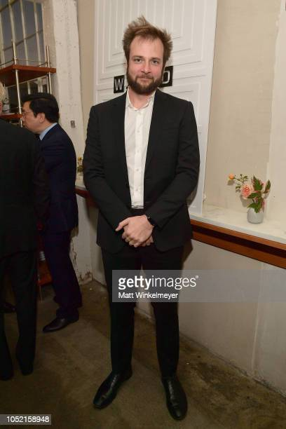 Evan Sharp attends VIP Dinner For WIRED's 25th Anniversary Hosted By Nicholas Thompson And Anna Wintour at Tartine Manufactory on October 14 2018 in...