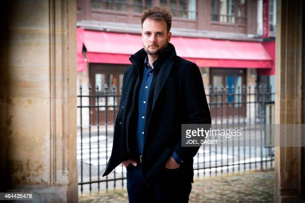 Evan Sharp US cofounder of web and mobile application Pinterest poses in Paris on February 25 2015 AFP PHOTO / JOEL SAGET