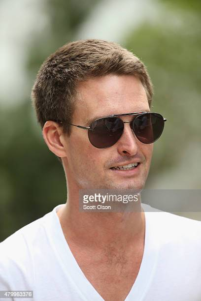 Evan Spiegel cofounder and CEO of the mobile application Snapchat attends the Allen Company Sun Valley Conference on July 8 2015 in Sun Valley Idaho...