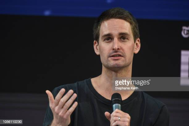 Evan Spiegel CoFounder and CEO Snap Inc speaks at the New York Times DealBook conference on November 1 2018 in New York City