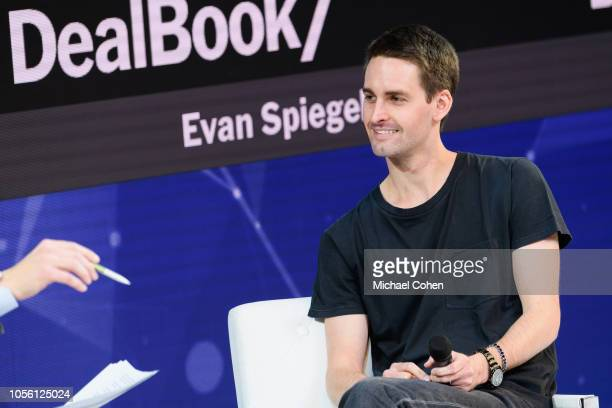 Evan Spiegel CoFounder and CEO Snap Inc speaks onstage during the 2018 New York Times Dealbook on November 1 2018 in New York City
