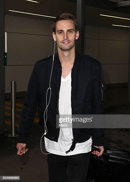 Evan Spiegel sighted after jetting in on December 22 2015 in Sydney Australia