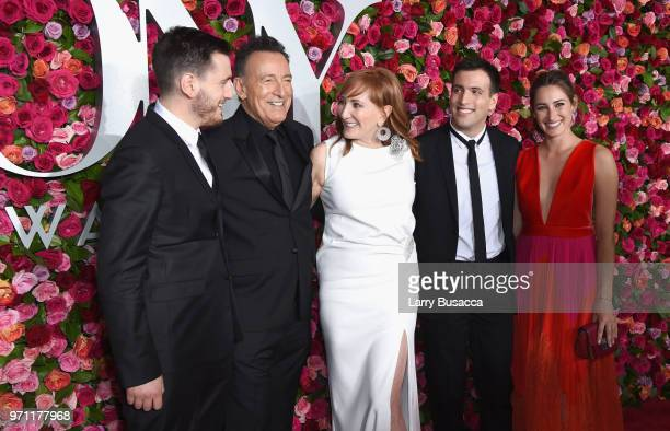 Evan Springsteen, Bruce Springsteen, Patti Scialfa, Sam Springsteen, and Jessica Springsteen attend the 72nd Annual Tony Awards at Radio City Music...