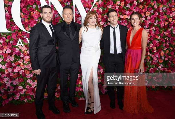 Evan Springsteen Bruce Springsteen Patti Scialfa Sam Springsteen and Jessica Springsteen attends the 72nd Annual Tony Awards at Radio City Music Hall...