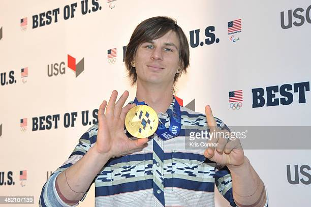 Evan Strong walks the red carpet during the US Olympic Committee's Best of US Awards at Warner Theatre on April 2 2014 in Washington DC