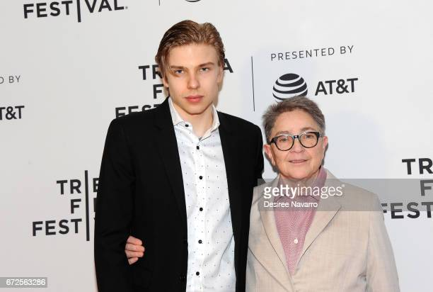 Evan Tomchin and Joy Tomchin attend 2017 Tribeca Film Festival 'The Death And Life Of Marsha P Johnson' at Cinepolis Chelsea on April 21 2017 in New...
