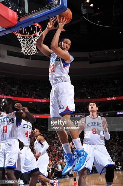 13c55010c2e1 Evan Turner of the Philadelphia 76ers rebounds against the Chicago Bulls on March  4 2012 at