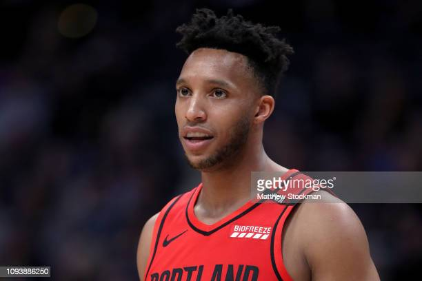 Evan Turner of the Portland Trail Blazers plays the Denver Nuggets at the Pepsi Center on January 13 2019 in Denver Colorado NOTE TO USER User...