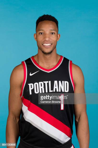 Evan Turner of the Portland Trail Blazers poses for a head shot during media day on September 25 2017 at the Moda Center Arena in Portland Oregon...