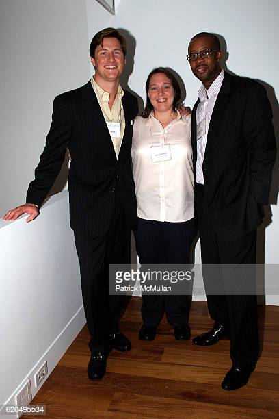 Evan Uhlick, Alicia Skovera and Michael Clarke attend The FRESH AIR FUND'S Fall Benefit Kick-Off Party hosted by Caroline Cummings at Soho on...