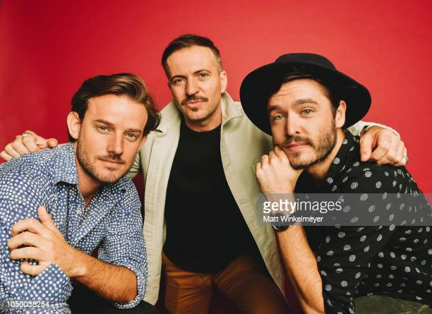 Evan Williams Tygh Runyan and Alexander Vlahos of Ovation Network's 'Versailles' poses for a portrait at Getty Images on October 02 2018 in Los...