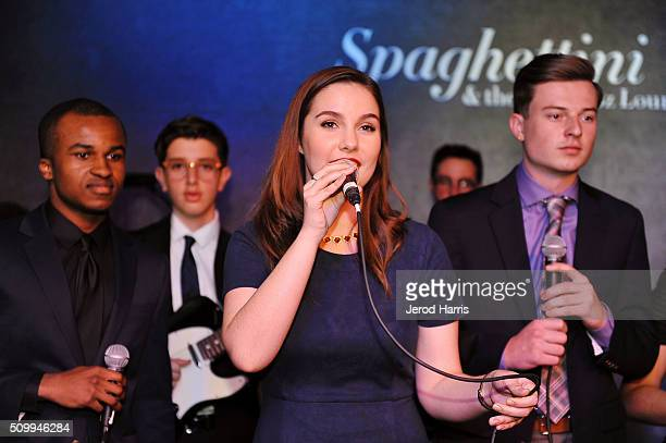 Evan Wright Jordan Reifkind Abigail Berry Maxwell Schwartz and Jack O'Connor perform at the GRAMMY Foundation's GRAMMY Camp Jazz Session public...