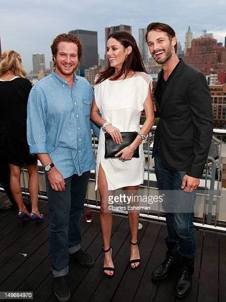Evan Yurman models Nicole Trunfio and Ben Hill attend the David Yurman Fall 2012 annual rooftop soiree at David Yurman Rooftop on August 1 2012 in...
