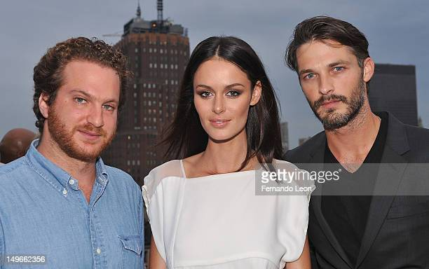 Evan Yurman with models Nicole Trunfio and Ben Hill pictured at the David Yurman Rooftop on August 1 2012 in New York City