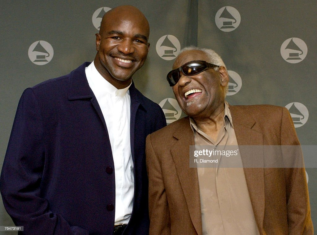 Evander Holyfield and Ray Charles at the The Westin Peachtree Plaza in Atlanta, GA