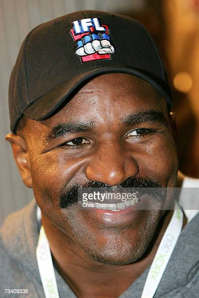 Evander Holyfield at the International Fight League event at The Arena at Gwinnett Center on February 23 2007 in Atlanta Georgia