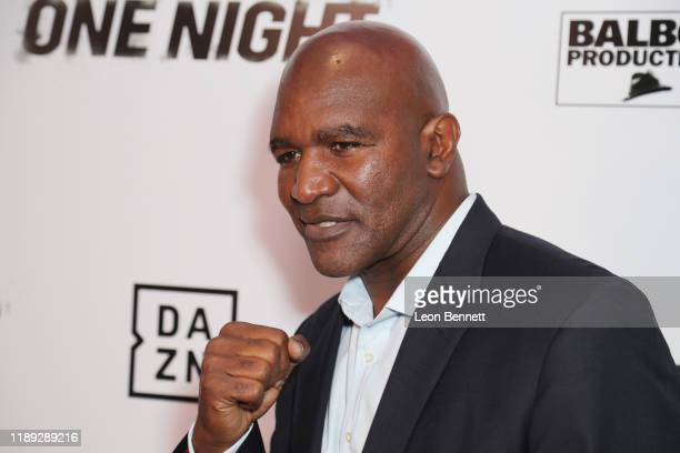 Evander Holyfield attends Premiere Of One Night Joshua Vs Ruiz at Writers Guild Theater on November 21 2019 in Beverly Hills California