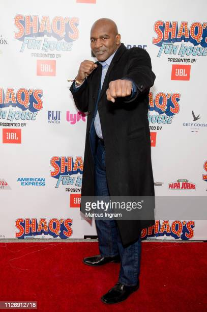 Evander Holyfield attends Shaq Fun House at Live At The Battery on February 01 2019 in Atlanta Georgia