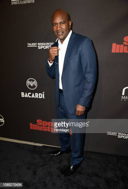 Evander Holyfield attends Sports Illustrated Saturday Night Lights powered by Matthew Gavin Enterprises and Talent Resources Sports on February 2...