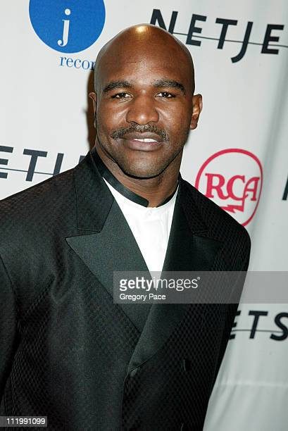 Evander Holyfield during 2003 Clive Davis PreGRAMMY Party at The Regent Wall Street in New York NY United States