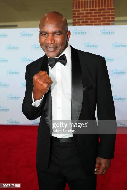 Evander Holyfield walks the red carpet at the 2018 So the World May Hear Awards Gala benefitting Starkey Hearing Foundation at the Saint Paul...